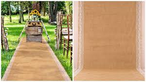 burlap wedding aisle runner top 10 best wedding aisle runners