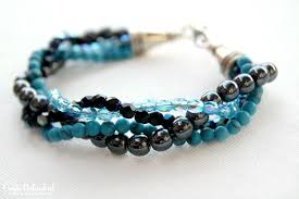 make beaded bracelet images How to make a bracelet with twisted bead strands how to make jpg