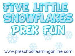 winter songs for preschool 5 snowflakes