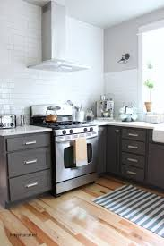Slate Grey Kitchen Cabinets by Nice Grey Kitchen Cabinets With Stove And White Ceramic Floor