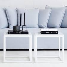 White Side Tables For Living Room Modern Designer Marble Side Table White Steel Base Carrara Marble Top