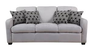 charlotte sofa in light fabric by coaster w options