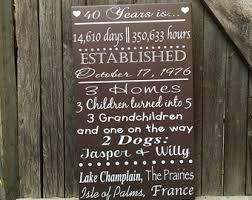 40th anniversary gifts for parents 15 anniversary gift chalkboard 15 years story gift