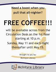 mcintyre library news spring 2014 finals week stress relieving