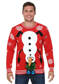 snowman balls ugly christmas sweater
