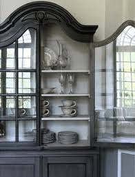 Black China Cabinet Hutch by China Cabinet Makeover Paint Colors Furniture And Grey
