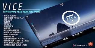 wp themes video background vice v1 7 1 responsive music band dj radio wordpress theme