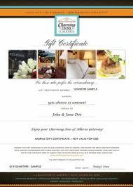 hotel gift certificates gift cards alberta getaways charming inns of alberta