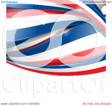 French Flag Background Clipart Of A Background Of French Flag Ribbon Banners Over White