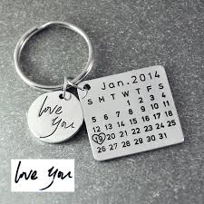 aliexpress key rings images Fathers day sale personalized calendar keychain signature calendar jpg