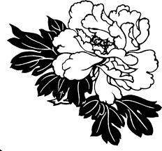 hawaiian flower clipart black and white clip art pinterest