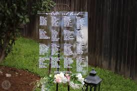 Wedding Seating Signs 30 Acrylic Wedding Signs Invitations U2014 The Overwhelmed Bride