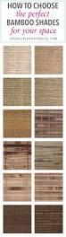 How To Shorten Bamboo Roman Shades Blinds Com Brand Budget Woven Wood Shades In Jamaica Walnut