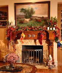fireplace likeable christmas decorations fireplace mantel house