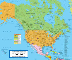 map of america map of america continent political bathymetry vector format