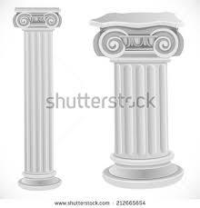 Greek Column Pedestal Tall Doric Column Pillar Isolated On Stock Illustration 367749824