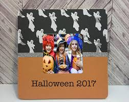 spooky halloween picture frames etsy