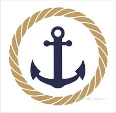 circle with anchor wall decal nautical wall decor 12 x 12