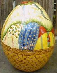 large paper mache egg easter egg 4 1 2 paper mache pink floral painted paper mache