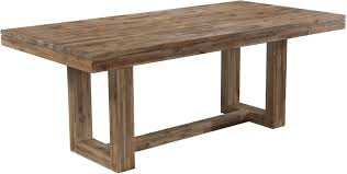 conference table and chairs set six piece modern rustic rectangular trestle table with ladderback