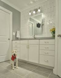 Vertical Bathroom Lights by Master Bathroom Reveal Master Bathrooms Subway Tiles And Nickel