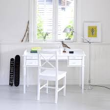 White Desk And Chair White Scandanavian Desk Or Dressing Table By Nubie Modern Kids