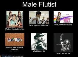 Flute Player Meme - oh hi i play the flute