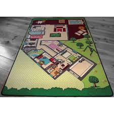 maison du tapis tapis de jeu la maison pour chambre enfant en polyester par tapitom