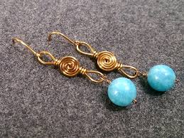 vire earrings simple wire earring how to make wire jewelry 210