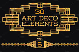 Art Deco Design 30 Art Deco Elements Vol6 Illustrations Creative Market