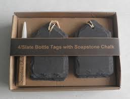 Soapstone Chalk China Slate Bottle Tags Slate Name Tags Slate Menu Tags With