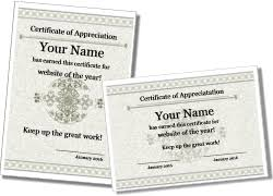 certificate of appreciation templates and certificate of