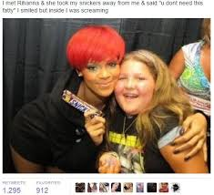 Young Girl Meme - i always see a meme of rih holding some chocolate bar an