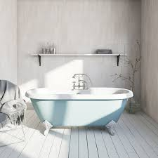 the bath co bluebell coloured bath with hampshire shower bath