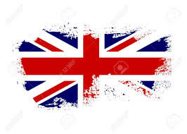 British Flag With Red British Flag Grunge Old Style Blue Red And White National