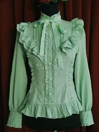 green chiffon blouse lolitashow green chiffon stand collar sleeve