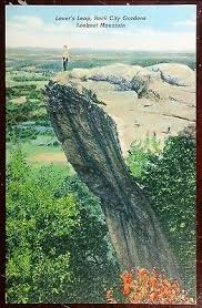 Rock City Gardens Lookout Mountain Ga 1930 S Postcard Leap Rock City Gardens Lookout Mountain