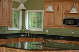 natural hickory cabinets and black galaxy granite glenwood