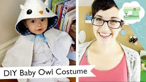 diy baby owl halloween costume hedwig hooded cape