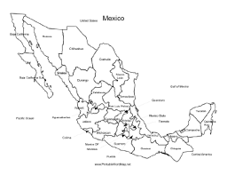map of mexico with states a printable map of mexico labeled with the names of each