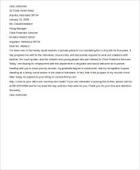 sample social work cover letter 9 examples in word pdf