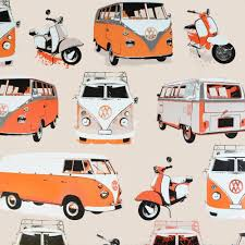 volkswagen hippie van clipart i love wallpaper vw camper van u0026 scooter wallpaper orange cream