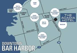 Boston Harbor Hotel Map by Acadia Hotel Find Us