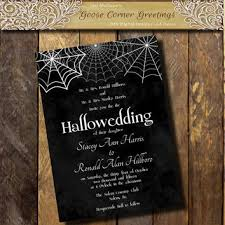 printable halloween wedding invitation from goosecornergreetings