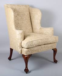Antique Queen Anne Wing Back Chairs Wing Arm Chair On Walnut Cabriole Legs In The Classic Queen Anne