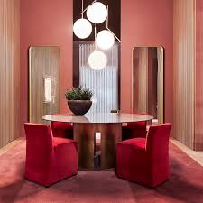 contemporary dining table plastic oval gong meridiani