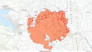 Map Of California Fires Cfn California Fire News Cal Fire News Ca Lnu Rocky Fire