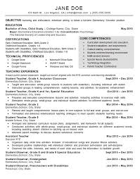 Resume Samples For Teaching by Child Care Teacher Resume Example