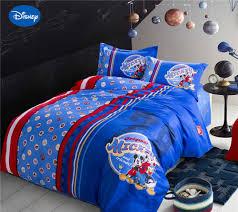 disney cartoon mickey mouse badges printed bedding sets boys home