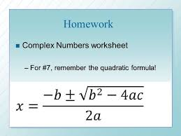 m 1 u 1 complex numbers ppt download